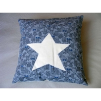 Coussin Chouettes bleues