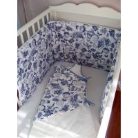 Tour de lit Chouettes bleues