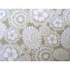 coton fleurs beiges