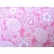 coton fleurs roses