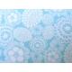 coton fleurs turquoises