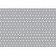 coton pois gris