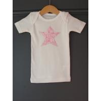 T-shirt personnalisé étoile Fleurs roses