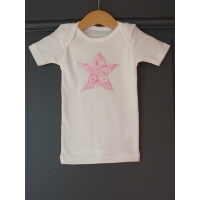 T-shirt personnalisé étoile Pois rouges
