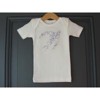 T-shirt personnalisé hirondelle Fleurs mauves