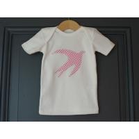 T-shirt personnalisé hirondelle Pois roses