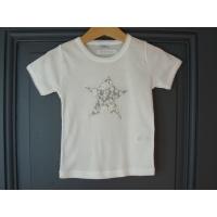 T-shirt personnalisé étoile Fleurs grises