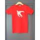 T-shirt personnalisé rouge hirondelle Coquelicot