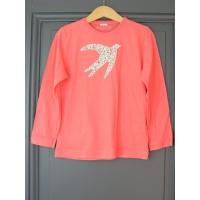 T-shirt personnalisé rose hirondelle Coquelicot