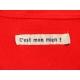 T-shirt personnalisé rouge étoile Coquelicot