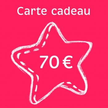 Carte cadeau 70 €