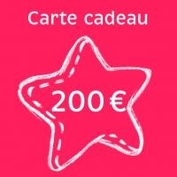 Carte cadeau 200 €