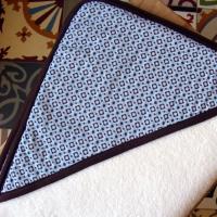 Sortie de bain Géométrie bleu